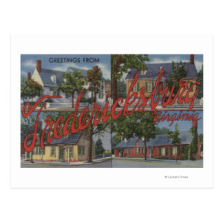 Carte Postale Fredericksburg, la Virginie - grandes scènes de