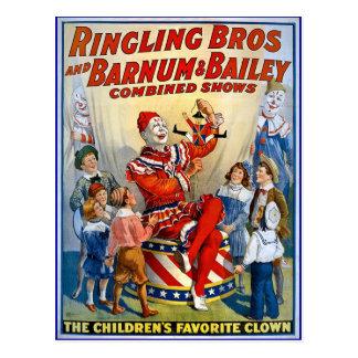 Carte Postale Frères de Ringling et Barnum et clowns de cru de