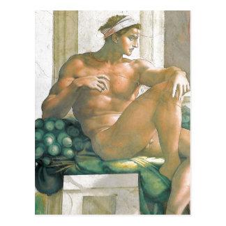 Carte Postale Fresque de description peint par Michaël Angelo et