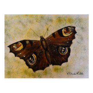 Carte Postale Frida Kahlo a peint le papillon