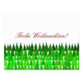 Carte Postale Frohe Weihnachten ! Joyeux Noël allemand