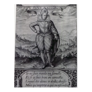 Carte Postale Frontispice aux 'Hermaphrodites de Les