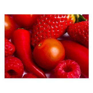 Carte Postale Fruit/carte postale rouges de légumes