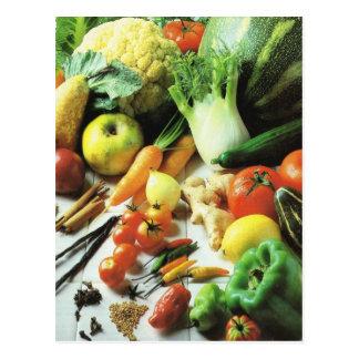 Carte Postale Fruits et légumes, toutes sortes de légumes