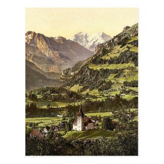 Carte Postale Frutigen et Balmhorn, Bernese Oberland, Switzerla