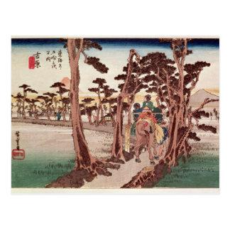 Carte Postale Fuji de Yoshiwara