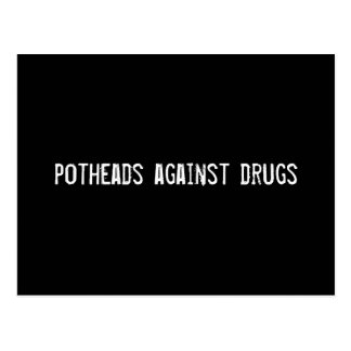 Carte Postale fumeurs de marijuana contre des drogues