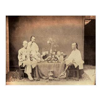 Carte Postale Fumeurs d'opium en Chine