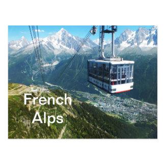 Carte Postale Funiculaire au-dessus de Chamonix