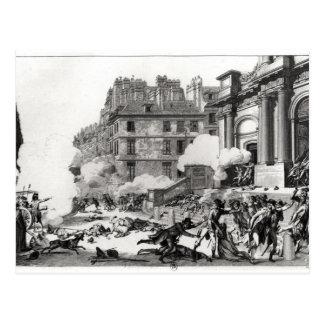 Carte Postale Fusillade avant église de St Roch à Paris