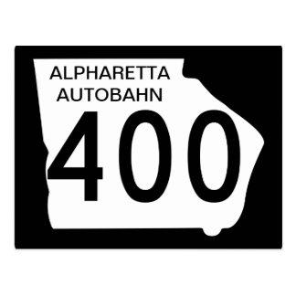 """Carte Postale GA 400"""" autoroute d'Alpharetta """""""