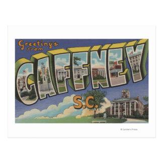 Carte Postale Gaffney, la Caroline du Sud - grandes scènes de