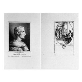 Carte Postale Gaius Cornélius Tacite gravé par Julien