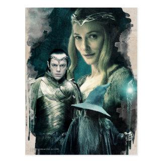 Carte Postale Galadriel, ELROND™, et graphique de Gandalf