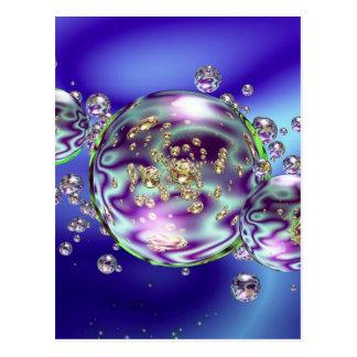 Carte Postale Galaxie de bulle