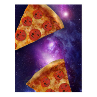 Carte Postale Galaxie de pizza de doge