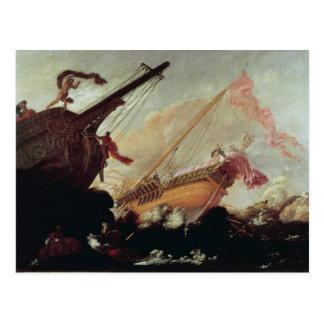 Carte Postale Galions détruits sur un rivage rocheux