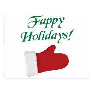 Carte Postale Gant de Noël de vacances de Fappy