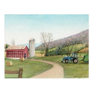 Carte Postale Garant de tracteur et de foin