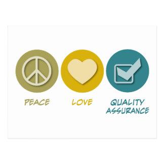 Carte Postale Garantie de qualité d'amour de paix
