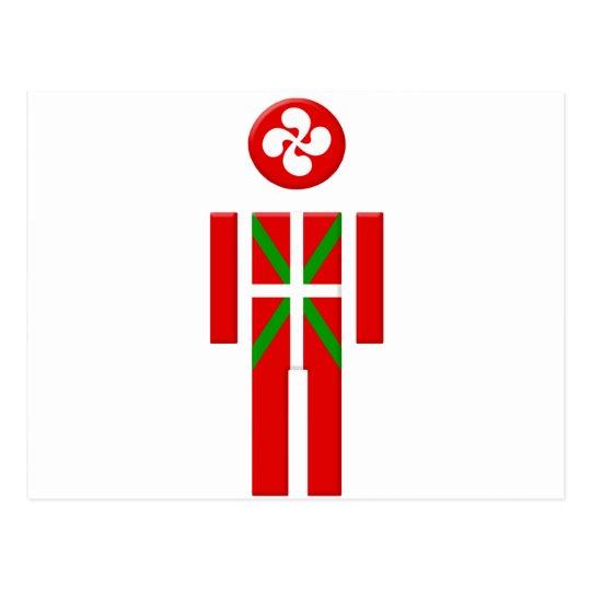 Carte Postale Garçon Basque drapeau Euskadi