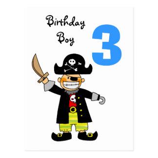 Carte Postale garçon de pirate de 3 ans
