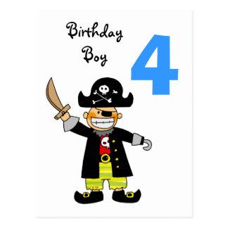Carte Postale garçon de pirate de 4 ans