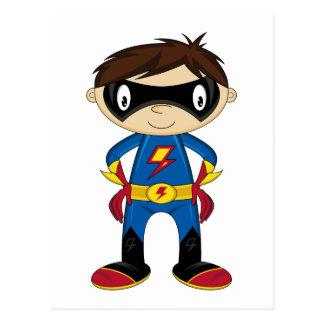 Carte Postale Garçon mignon de super héros