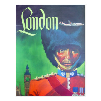 Carte Postale Garde vintage de la Reine de Big Ben de transports