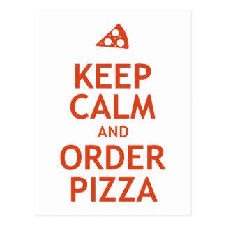 Carte Postale Gardez le calme et commandez la pizza