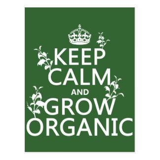 Carte Postale Gardez le calme et développez-vous organique