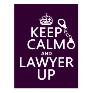 Carte Postale Gardez le calme et l'avocat (toute couleur)