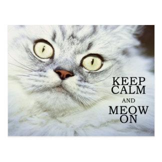 Carte Postale Gardez le calme et le Meow dessus