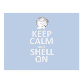 Carte Postale Gardez le calme et le Shell dessus