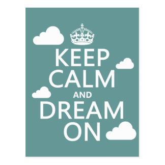 Carte Postale Gardez le calme et rêvez dessus (des nuages) -