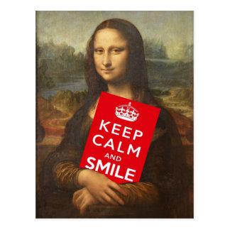 Carte Postale Gardez le calme et souriez