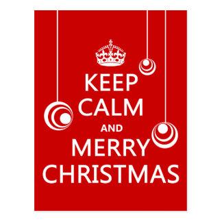 Carte Postale Gardez le Noël calme et Joyeux