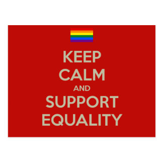 Carte Postale gardez l'égalité calme de soutien