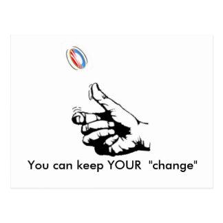 Carte Postale gardez VOTRE changement, vous peut garder VOTRE