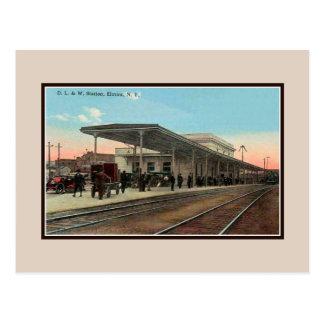 Carte Postale Gare 1910 du cru Ca Elmira NY