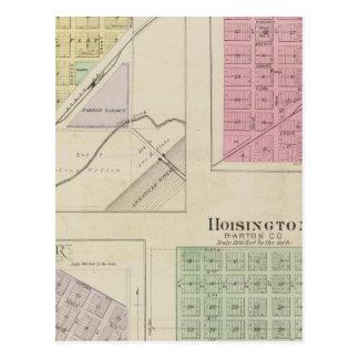 Carte Postale Garfield, roche de Pawnee, Heizer, Hoisington, le