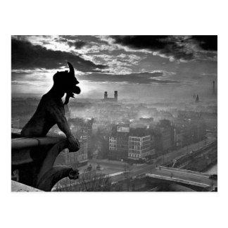 Carte Postale Gargouille 1920 de Paris