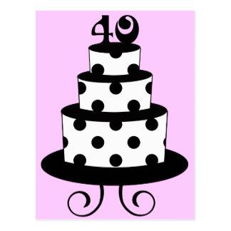 Carte Postale Gâteau d'anniversaire d'anniversaire de point de