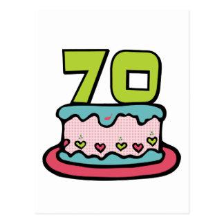 Carte Postale Gâteau d'anniversaire de 70 ans
