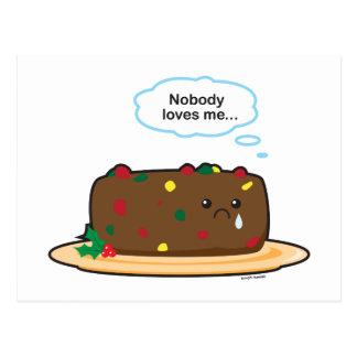 Carte Postale Gâteau de fruits secs pauvre !
