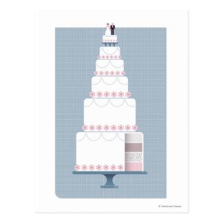 Carte Postale Gâteau de mariage