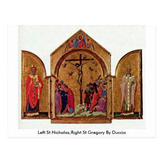 Carte Postale Gauche : Saint-Nicolas ; Droite : St Gregory par
