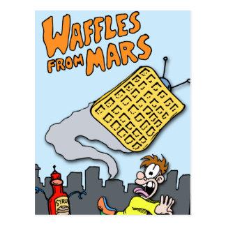 Carte Postale Gaufres de vol de Mars !