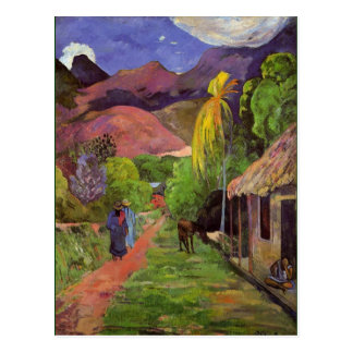 Carte Postale Gaugin - route au Tahiti