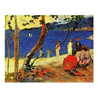 Carte Postale Gauguin - un bord de la mer